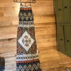 Roxy multi color maxi dress